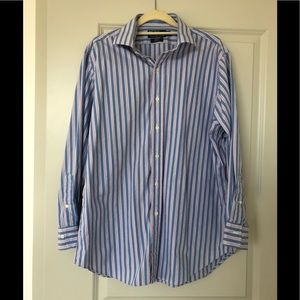 Polo by Ralph Lauren pink/teal/blue stripped shirt